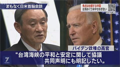 美日結盟抗中!聚焦台海和平穩定 美日峰會談2.5小時 52年來首提台灣