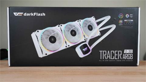 環形燈光,與眾不同。darkFlash DT-360 ARGB 桌機水冷