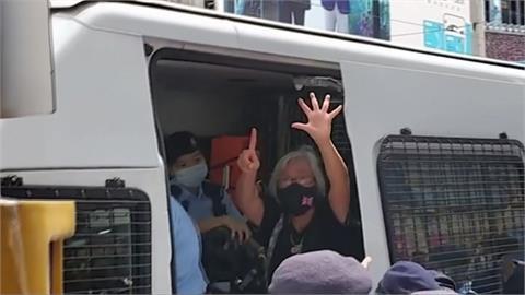港府慶回歸24周年!王婆婆持英國旗抗議被逮