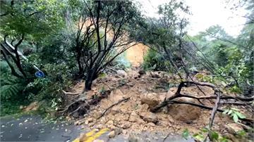 大雨致邊坡滑落 北市陽金公路雙向封閉搶修