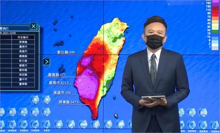 快新聞/南高屏累積雨量「紫爆」 氣象局:傍晚雨勢才有望趨緩