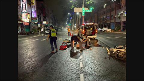 老翁闖紅燈過馬路 遭酒駕婦撞飛頭重創不治