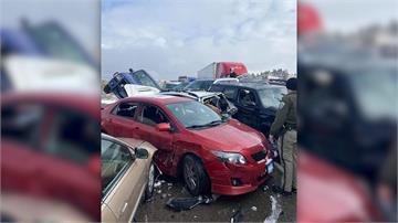 疑橋面結冰肇禍 30輛車追撞至少2傷