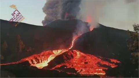 吞噬30座大安森林公園 西班牙拉帕馬島火山爆發滿月仍看嘸盡頭