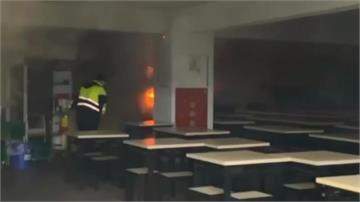 台大女宿餐廳暗夜起火 警報大響學生奔逃