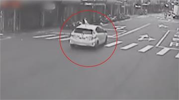 飛來橫禍! 宅配員買早餐遭逆向車撞飛警查誰開車? 車上4人3到案1離開現場