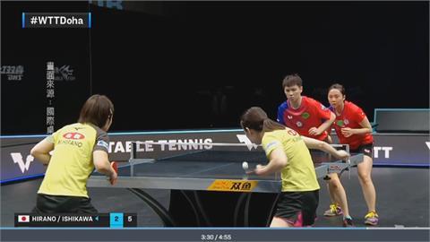 日本桌球女團連拿3點 台灣女將止步八強
