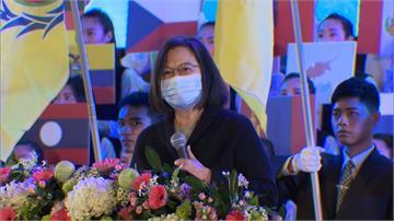 出席桃園龜山一貫道感恩大會 蔡總統提醒民眾遵守防疫規定
