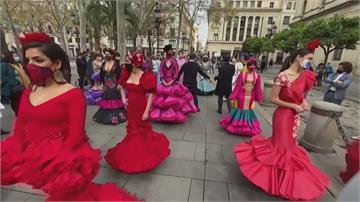 疫情重創觀光 佛朗明哥舞者上街跳舞抗議