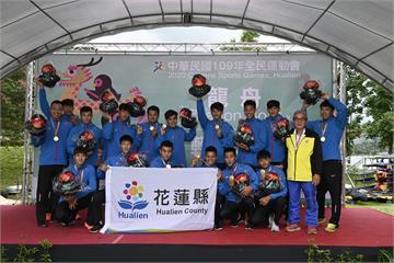 狂賀!花蓮龍舟代表隊勇奪100公尺冠軍 奪全民運首面金牌