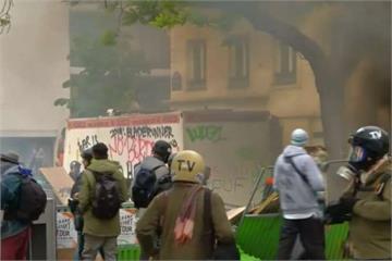 五一勞動節遊行 法國、德國火爆抗議釀警民衝突