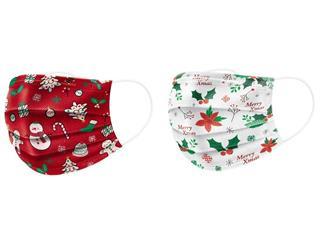 可愛雪人、耶誕樹「戴」著走!家樂福11日起開賣「耶誕限定口罩」