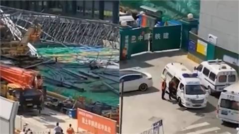 中國成都地鐵工地鷹架垮塌釀4死14傷 承包商屢出意外遭罰前科多