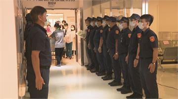鼻酸!21歲員警楊庭豪器官捐贈 樹林警同仁列隊敬禮送最後一程