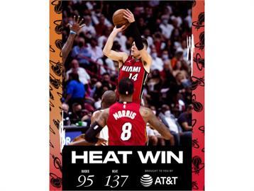 NBA/赫洛板凳出發砍全隊最高27分 率熱火42分差擒公鹿