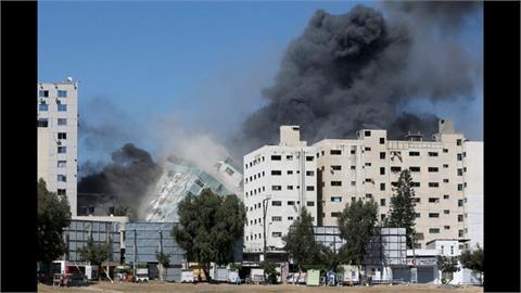 以國飛彈炸毀迦薩媒體大樓 蕈狀雲嚇傻記者