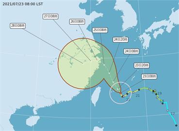 快新聞/「烟花」暴風圈逐漸接近 氣象局:今晚至明天上午雨更大