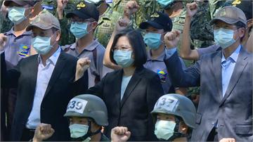 快新聞/一日視察陸海空3軍 蔡英文:國家和平不靠卑躬屈膝 是靠堅實的國防