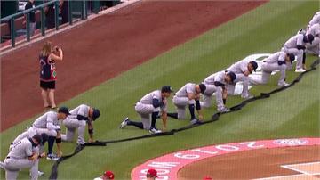 MLB/「黑人的命也是命」大聯盟開幕戰單膝跪地拚平權