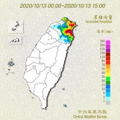 快新聞/雨下不停! 前10大雨量排名宜蘭占6名 鄭明典:東北季風異常降雨