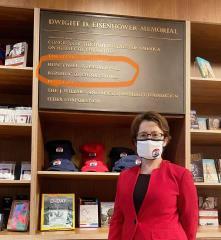 快新聞/艾森豪總統紀念堂刻印「中華民國台灣」 蕭美琴邀台灣人來打卡