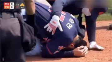 韓職投手遭強襲球「爆頭」 救護車急駛進場急救