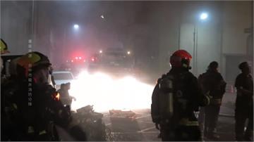 台中港管制區台肥廠凌晨火警!肥料半成品悶燒