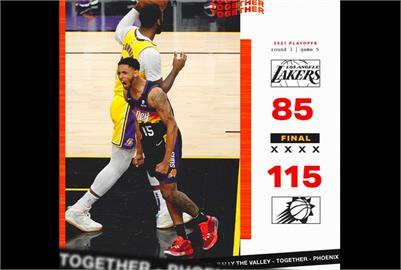 NBA/湖人戴維斯缺戰 太陽輕鬆取勝聽牌