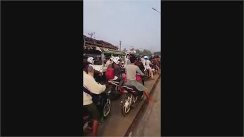 緬甸動盪不斷 民眾掀逃亡潮 大批軍警消逃到印度