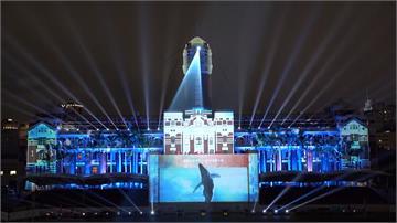 國慶光雕點燈藏一大亮點 「民之所欲 長在我心」驚喜投影