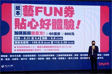 快新聞/「藝FUN券2.0」今早9點開放登記! 申請資格、流程一次看