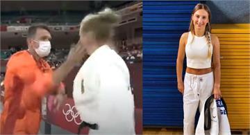 德國柔道女將上場遭教練狠甩2巴掌!遭網友怒轟 她發文澄清:是我要求的