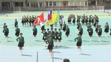 國慶大會倒數計時 北一女樂儀旗隊週末加練