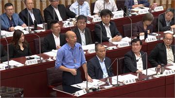 議員質疑落跑市長 韓國瑜:競選總部、就職典禮都在高雄