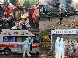快新聞/郭台銘向消防英雄致敬 消防員:這一年訓練以最短時間穿上防疫裝