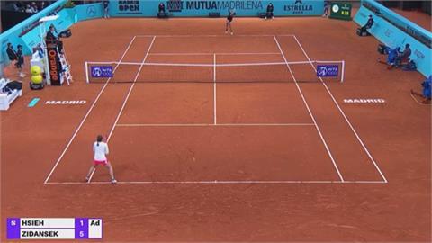 馬德里女網賽首輪 謝淑薇直落二出局
