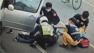 通緝犯開車撞警被開槍!後腦中彈送醫搶救