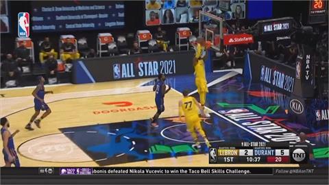 NBA明星賽雷霸龍隊四連勝!字母哥16投全中獲MVP