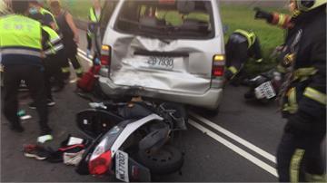 新莊5車連環撞!5人受傷、1騎士命危送醫