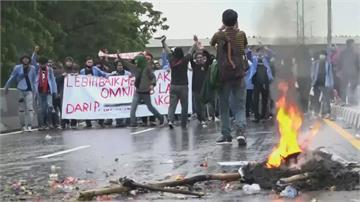 印尼大學生街頭抗議衝突!警民掛彩 首都彷若無政府
