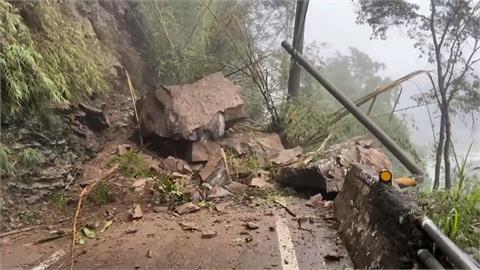 連日大雨沖刷 台八線中橫公路117.3km坍方
