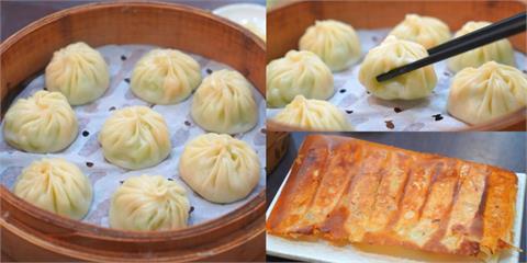 基隆美食 基隆玥成上海湯包 基隆八斗子人氣餐館,絲瓜蝦仁湯包皮薄湯汁多