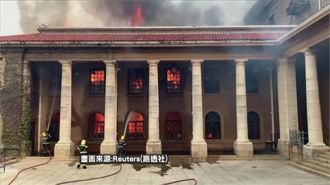 南非桌山國家公園爆野火 波及開普敦大學學生撤離
