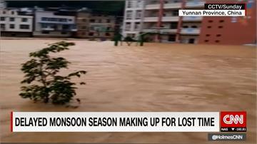 梅雨季釀災 中國雲南河水暴漲淹村
