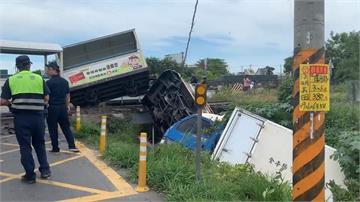 溪湖糖廠小火車撞貨車出軌 車上270遊客嚇壞