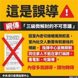 快新聞/網散布「病毒只會攻擊家人」假訊息 指揮中心:內容多為誤導