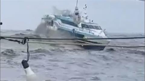 西南氣流海上風浪大 東琉線乘客船上尖叫