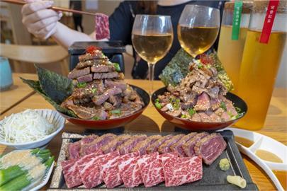 美食/台中日式餐廳 嵐山熟成牛かつ專売|二訪讓人驚艷 用心搭配的炸牛排三盛合 滿足吃貨人的胃