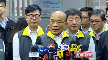 快新聞/蘇貞昌感謝防疫國家隊 稱台灣「又台又灣」