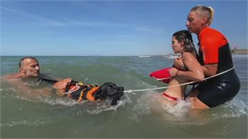 義大利狗狗救生員 疫情期間成海灘救生明星
